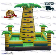 16x16ft Inflatable Rock Climbing Bounce Tower With Air Blower