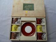 Susie Cooper Vintage Bone China Demitasse Cup And Saucer Boxed Set Of 12 Rare