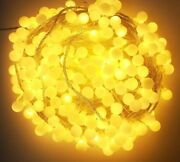 Led Light Bulb Garland For Christmas Decorations Fairy String Lights Outdoor New