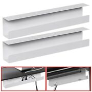 2x Under Desk Cable Cord Management Tray Power Strip Adapter Organizer Steel 23