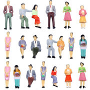 P30 100pcs Model Trains G Scale Painted Figures People 9 Different Poses