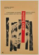 Original 400 Blows Polish A1 Film/movie Poster 1960 Linen-backed