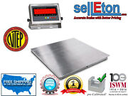 New Ntep 36x36 3and039x3and039 Floor Scale   Pallet Scale Stainless Steel / 5000 X 1lb