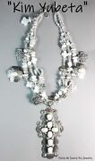 Kim Yubeta3 Strandmabe Pearl Crosses And Pearlscrystals925 Charm Necklace
