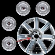 Fits 2015-2017 Cadillac Escalade 22 Chrome Wheel Center Hub Caps Rim Lug Covers