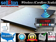 Floor Scale / Pallet Size 5and039 X 5and039 60 X 60 Wireless Scale 10000 Lbs X 1 Lb