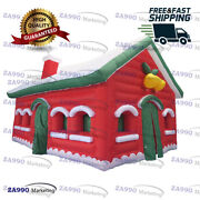 20x13ft Inflatable Santa Claus Grotto House Tent With Air Blower