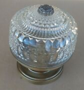 Vintage Collectible Fancy Ornate Glass Ceiling Light Fixture 60 Watts 1970's