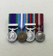 Court Mounted Miniature Medals, Northern Ireland, Cyprus, Afghanistan, Diamond