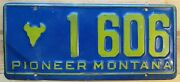 Montana 1950and039s-1960and039s Pioneer Bison Head Logo License Plate Nice Quality 1 606