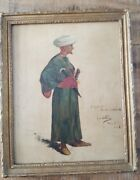Framed Oil On Board / Henry Watrous 1857-1940 / Signed Inscribed And Dated 1886