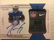 Kenny Golladay 2017 National Treasures Red Nike Nfl Tag On Card Auto Rpa Rc 1/1