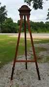 Huge Antique French Walnut Easel 9ft 1.5and039and039 Tall Carved Crown And Rosettes 1800and039s