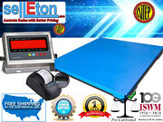New Ntep 5and039 X 5and039   60 X 60 Industrial Floor Scale With Printer / 10000 X 2 Lb