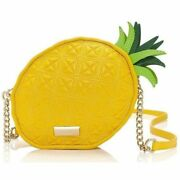 Nwt Kate Spade Rare Wing It Pineapple Leather Yellow Crossbody Purse Neon Fruit