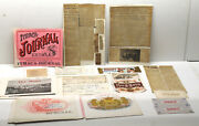 Odd 1948 Antique Envelope With Ithaca Ny Journal+college Chums+cigar Box Labels