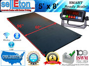 New 5and039 X 8and039 60 X 96 Industrial Heavy Duty Floor Scale 1000 Lbs X .2 Lb