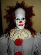 Lifesize It Glow Eyes Pennywise Evil Clown Halloween Prop Figure Movable Hands