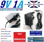 Uk 9v 1a Power Supply Adapter Charger To Fit Vtech Innotab 2 And 3 Learning Tablet