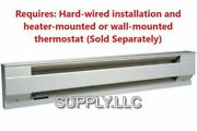 Wall Electric Baseboard Heater By Cadet Convection Heat 208v To 240v White