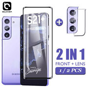 Fr Samsung Galaxy S21 Ultra Plus Full Cover Tempered Glass+camera Lens Protector