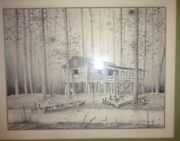 David Hagerbaumer Original Signed Etching /450 ---the Shanty