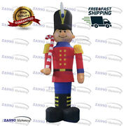 13ft Inflatable Nutcracker Soldier Cartoon Christmas Yard With Air Blower