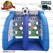 10x6.6ft Inflatable Football Kick Toss Soccer Sport Game With Air Blower