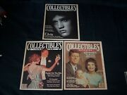 X3 1980and039s Collectibles Illustrated Magazines Elvis Kennedy