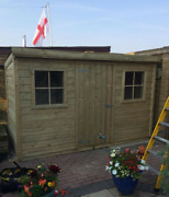 High Quality Premium Timber Pent Cottage Pressure Treated Steel Roof Heavy Duty