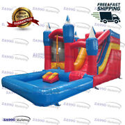 20x13ft Commercial Inflatable Bouncy House Water Slide And Pool With Air Blower