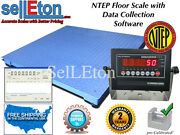 New Ntep Legal 60 X 60 5and039 Floor Scale Pallet 2000 X .5 Lb With Data Software