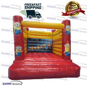 13x10ft Commercial Inflatable Minions Bounce House Trampoline With Air Blower