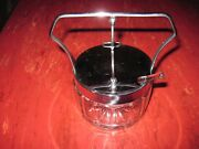 Vtg Clear Depression Ware Glass Spoon Ladle Mayo Jelly Condiment Bowl Heavy