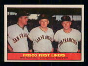 1961 Topps Baseball  383 Frisco First Liners  Inv J8581
