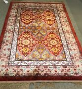 An Authentic Chinese Silk With Samarkand Design Rug