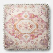 Joanna And Chip Gaines Fixer Upper Pillow Magnolia Farms 18x18 Pink Multi Hgtv