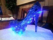 Custom Bling Led Lights Prom Wedding Shoes Showstopper Any Color Birthday