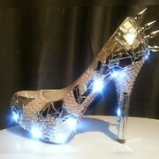 Custom Bling Led Lights Prom Wedding Shoes Glossy Remix Any Color Birthday