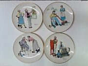 Norman Rockwell 1978 Four Seasons Collectors Plates Gorham Limited Edition