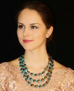 Kate Spade Facets Crystal Cluster Statement Necklace And Dana Leblanc Blue Lot 2