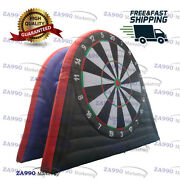 16ft Inflatable Two Sides Dart Board Golf Foot Game Soccer Kick With Air Blower