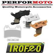 Pair Of Trofeo Organic Front Brake Pads To Fit Bmw F800 S/st 06-07