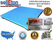 New Ntep Legal Industrial 60 X 60 5and039 X 5and039 Floor Scale 10000 X 2 Lb W. Printer