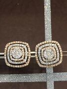 1.52 Cts Round Brilliant Cut Natural Diamonds Stud Earrings In Hallmark 14k Gold