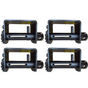 4 Pack Comb Weld-on Winch Flatbed Truck Trailer Winches For 2 - 4 Winch Strap