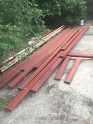2andrdquox 5andrdquo X.250andrdquo Red Iron Steel Rectangular Tubing Lot Of 248 Ft Total