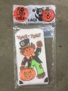 Vintage Halloween Paper Trick Or Treat Bags 60 Bags New