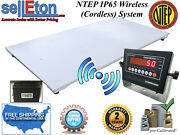 New Ntep Floor Scale 48 X 96 4and039 X 8and039 Wireless / Cordless 2000 Lbs X .5 Lb