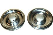Hub Cap Center Chrome Stainless Steel 8 1/4 1960and039s 1970and039s Not Perfect Has Ding